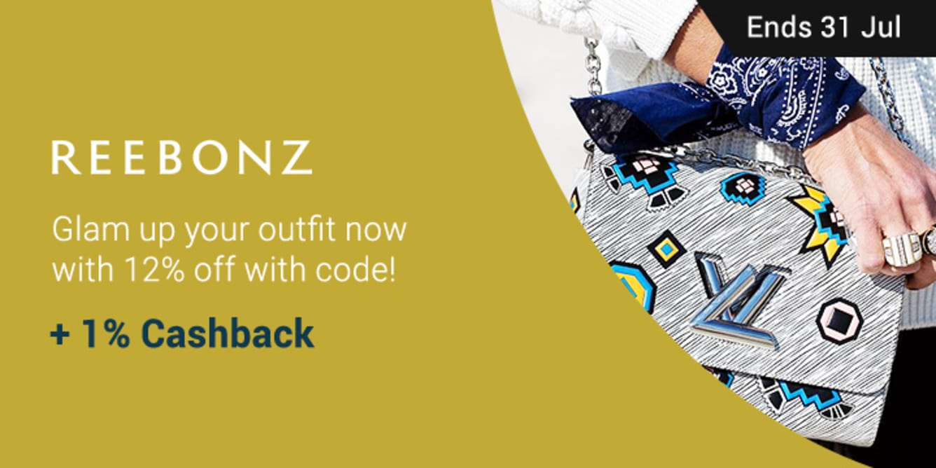 Reebonz: Glam up your outfit with 12% off with code + 1% Cashback