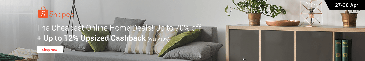 Shopee Sale: Up to 70% off + Extra 20% off + Upsized Cashback!