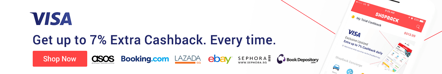 Earn extra Cashback when you shop with Visa!