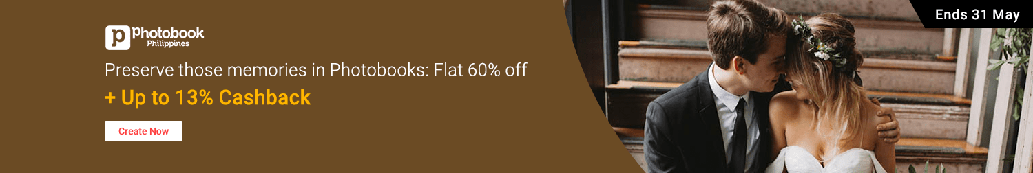Get your memories on print: Flat 60% off photobooks + Up to 13% Cashback