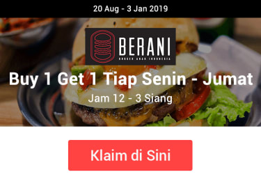 Promo Berani Burger