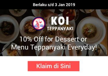 Promo Koi Teppanyaki