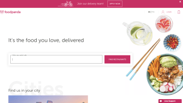 Foodpanda Homepage
