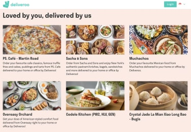 Deliveroo Homepage