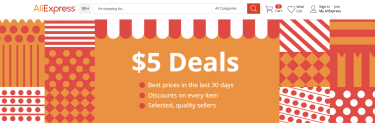 AliExpress $5 Deals
